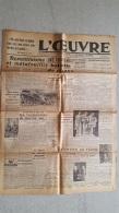 L'OEUVRE  11 JUILLET 1943  BATAILLE DE CHARS DANS LES LIGNES SOVIETIQUES  DOUBLE FEUILLE - Journaux - Quotidiens