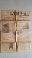 L'OEUVRE  20 AVRIL 1943  LES 54 ANS D'HITLER   DOUBLE FEUILLE - Journaux - Quotidiens