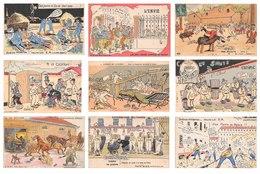 Lot De 42 CPA De Scènes Militaires - Illustrations Humour Soldats Militaria Caserne La Vie Militaire - Humoristiques