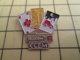 Sp03 Pin's Pins : Rare Et Belle Qualité  FRANCE TELECOM / CARTES A PUCE CCEM - France Telecom