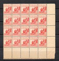 ALGERIE N° 198 BLOC DE VINGT  NEUF SANS CHARNIERE COTE  6.00€  POUR LA VICTOIRE - Algérie (1924-1962)