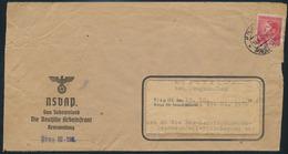 Böhmen & Mähren Brief EF Abs. NSDAP Gau Sudetenland Dt. Arbeuitsfron Prag III  - Besetzungen 1938-45