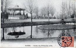 """TOURS - Jardin Des Préhendes D' Oë  -  Kiosque - Pub """"Au Bon Marché"""" Dreux Bussienne (107618) - Tours"""