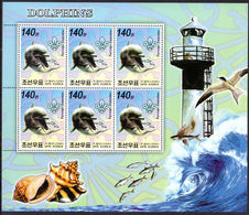 North Korea 2006 Dolphins And Flying Fish Sheetlets Unmounted Mint. - Korea, North
