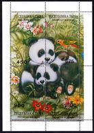 Tuva 1997 Panda Souvenir Sheet Unmounted Mint. - Tuva