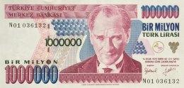 Turkey 1 Mio. Lirasi  P-209 (1995) UNC - Türkei