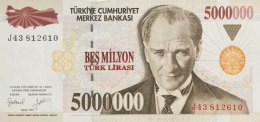 Turkey 5 Mio. Lirasi  P-210 (1997) UNC - Turquie