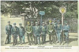 54. Villerupt. Frontière Franco-Allemande. Soldats Et Gendarmes Français, Allemands - Frankrijk