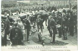 Mons. Joyeuse Entrée De S.M.Roi Albert, 7 Septembre 1913. Visite De L'Hôtel De Ville, Reçu Par Le Bourgmestre - Mons
