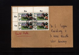 South Africa Rugby Interesting Airmail Letter - Rugby