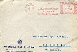 35300 Italia,red Meter(freistempel/ema/1952 Genova Automobil Clud Di Genova, (front Of Cover) - Affrancature Meccaniche Rosse (EMA)