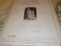 ANCIENNE PUBLICITE PÄRFUM  DE  LENTHERIC ET MME  FELIA LITWINE   1904 - Perfume & Beauty