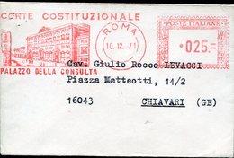 35301 Italia,red Meter/freistempel/ema/ Roma 1971 Corte Costituzionale, Baby Cover Circuled ! - Affrancature Meccaniche Rosse (EMA)