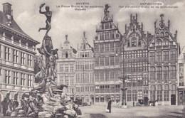 Antwerpen,  Anvers, Het Standbeeld Brabo En De Guldenhuizen (pk49331) - Antwerpen