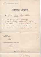 Führungs-Zeugnis Kgl. Bayer. 2. Fußartillerie-Regiment - 1905 (35456) - Documents