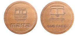 01132 GETTONE JETON TOKEN TRASPORTO TRANSITCT TRANSIT BUS GEORGIA ATLANTA  1992 - USA