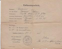 Entlassungsschein Feldartillerie-Regiment Nr. 274 - Naumburg 1919 (35457) - Dokumente