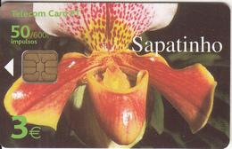 MADEIRA(PORTUGAL) - Flower, Sapatinho, Tirage 30000, 01/01, Used - Telefoonkaarten