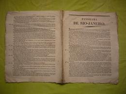 Panorama De Rio De Janeiro 19 ème Descriptif Historique Et Géographique 4pages - Documentos Antiguos