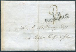 1830 GB London Local Entire 'T.P.Portugal St' - Upper Bedford Place - Great Britain
