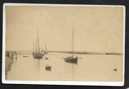 Le Port De Ouistreham - Photo Début 1900  (No CP)  - Calvados Normandie - Ouistreham
