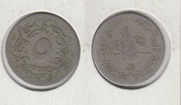 EGYPTE 5/10 Qirsh 1293 - 1898  (24) Egypt KM#291 - Egypt