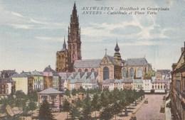 Antwerpen,  Anvers, Hoofdkerk En Groenstraat (pk49352) - Antwerpen