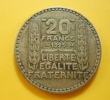 France 20 Francs 1929 Silver - L. 20 Francs