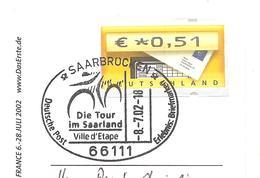 2002 Tour De France Cycliste :Saarbrucken Ville étape - Ciclismo