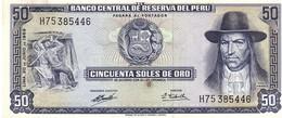 Peru P.101  50  Soles 1969  Unc - Perù