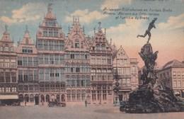 Antwerpen,  Anvers, Gildenhuizen En Fontein Brabo (pk49359) - Antwerpen