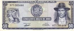 Peru P.101  50  Soles 1969  Unc - Pérou