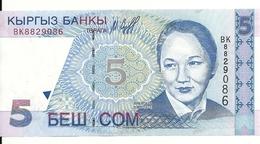 KIRGHIZISTAN 5 SOM 1997 UNC P 13 - Kirghizistan