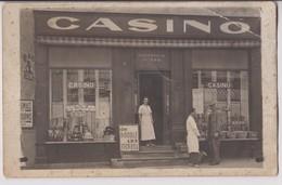 CARTE PHOTO DE 1938 EN L'ETAT : MAGASIN CASINO SUCCURSALE N° 320 - EPICERIE - COMMERCANTS - 2 SCANS - - Cartes Postales