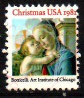 USA. N°1359 Oblitéré De 1981. Tableau De Botticelli. - Madones