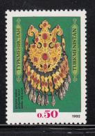 Turkmenistan 1992 MNH Scott #1 50k Dagdan Necklace, 19th Century - Turkménistan