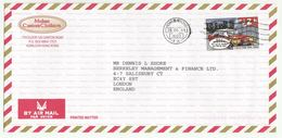 1999 HONG KONG COVER  $2.60 CARTOON TAXI Stamps Air Mail To GB China Car Transport - 1997-... Chinese Admnistrative Region