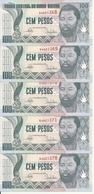 GUINEE-BISSAU 100 PESOS  1990 UNC P 11 ( 5 Billets ) - Guinea-Bissau