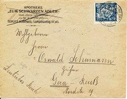Czechoslovakia Cover Sent To Germany 22-11-1924 Single Franked - Czechoslovakia
