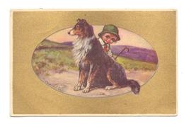 TIERE - HUNDE / COLLIE, Künstler-Karte V. Castelli - Hunde