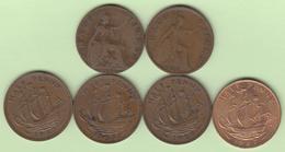 Grande Bretagne Half Penny 1914 ; 1929 ; 1957 ; 1958 ; 1959 ; 1967  Great Britain UK - 1816-1901 : Frappes XIX° S.