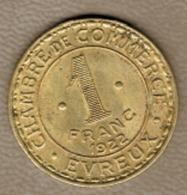 1 FRANC 1922 CHAMBRE COMMERCE EVREUX - Monétaires / De Nécessité