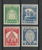 Estland Estonia Estonie 1936 Pirita Nonnery Michel 120 - 123 MNH - Estonia