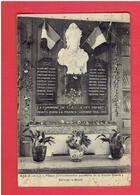 GAS PLAQUE COMMEMORATIVE AUX MORTS DE LA GUERRE 1914 1918 SALLE DE LA MAIRIE CARTE EN MAUVAIS ETAT - France