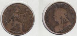 Grande Bretagne 1/2 Penny Half Penny 1896 - 1816-1901 : Frappes XIX° S.