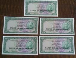 MOZAMBIQUE LOT UNC BANKNOTES NOTES - Zaire