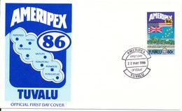 Tuvalu FDC 22-5-1986 Ameripex With Cachet - Tuvalu