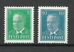 Estland Estonia 1936 Präsident Päts Michel 115 & 117 * - Estonie
