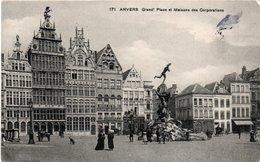 ANVERS-GRAND PLACE ET MAISONS DES CORPORAZIONS-NON VIAGGIATA - Belgio