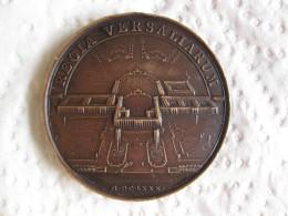 Médaille LOUIS XIV Le Château De Versailles Fin Des Travaux 1680 Par Mauger Refrappe - France